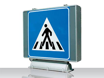 Traffic light sign for pedestrians