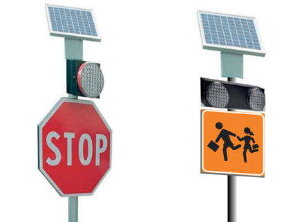 Photovoltaic road flashers