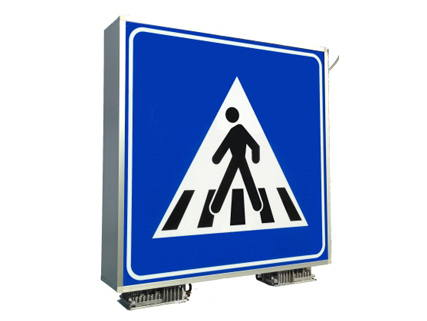 Lighting pedestrian crossing